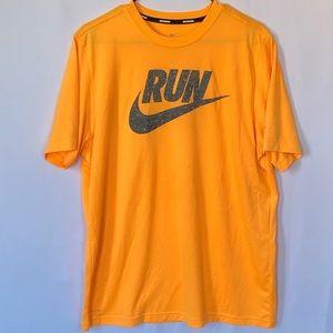 Nike bright orange Run DRI-FIT t-shirt size XL